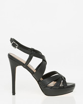 Le Château Leather-Like Criss-Cross Platform Sandal