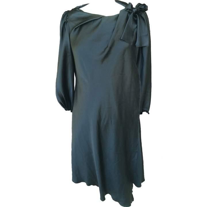 David Szeto Black Silk Dress for Women