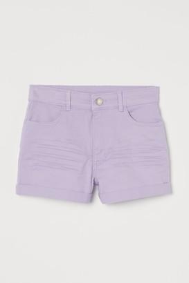 H&M Twill Shorts - Purple