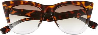 BP 51mm Two-Tone Cat Eye Sunglasses