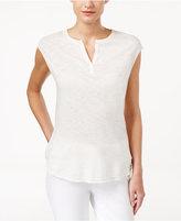Calvin Klein Jeans Sleeveless Split-Neck Top