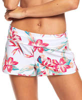 Roxy Women's Board Shorts Bright - Bright White Tropic Floral Endless Summer Boardshorts - Women & Juniors