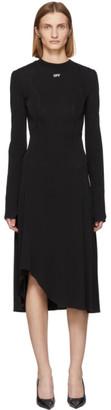 Off-White Off White Black Asymmetric Fluid Dress