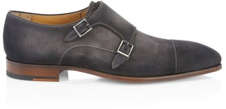 Saks Fifth Avenue COLLECTION BY MAGNANNI Suede Double Monk Strap Dress Shoes