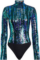Alix Nyc Madison Sequin Turtleneck Bodysuit
