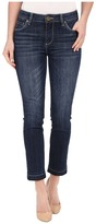 KUT from the Kloth Reese Ankle Straight Leg Jeans in Rely w/ Dark Stone Base Wash