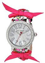 Betsey Johnson Women's Quartz Metal and Polyurethane Casual WatchMulti Color (Model: BJ00131-77)