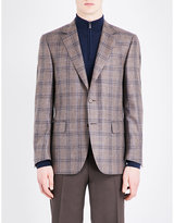 Canali Checked Wool-blend Jacket