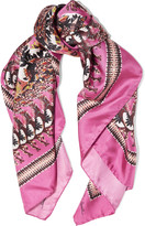 Roberto Cavalli Day Dream printed silk scarf