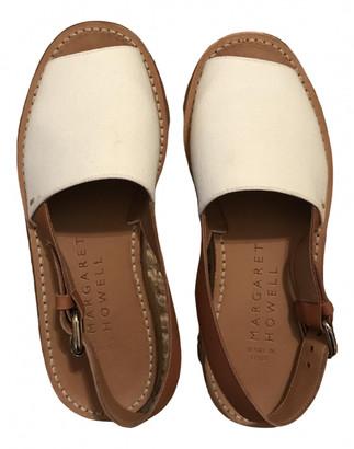 Margaret Howell Beige Leather Sandals