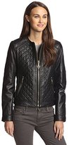 Laundry by Shelli Segal Women's Quilted Leather Jacket