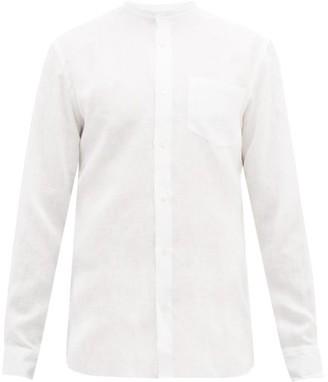 Odyssee - Neville Grandad-collar Linen Shirt - Mens - White