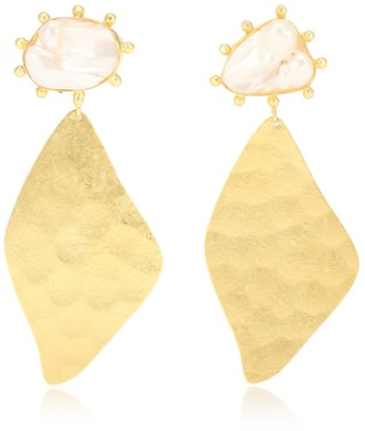 PEET DULLAERT Nahla 14kt and 24kt gold-plated earrings with pearls