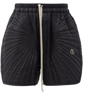 Moncler + Rick Owens Radiance Drawstring Quilted Down Shorts - Black