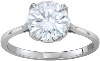 Charles & Colvard 14K White Gold 2 3/4 Carat T.W. Lab-Created Moissanite Round Solitaire Ring