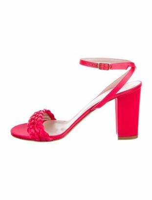 Aperlaï Braided Accents Sandals Red