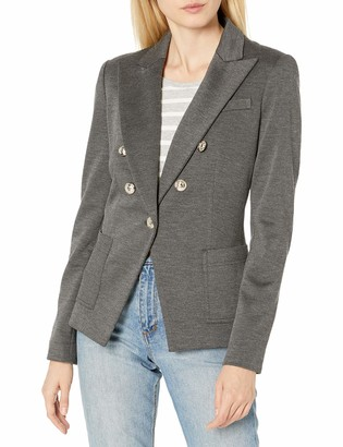 Tommy Hilfiger Women's Knit Double Breasted Blazer with Peak Lapel Collar