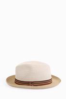 Grevi Stripe Bi Colour Straw Hat