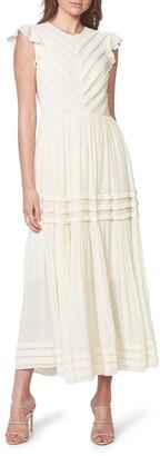 Bardot Maberly Fil Coupe Tiered Maxi Dress