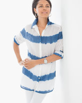 Chico's Tie-Dye Stripe Shirt