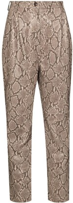 Magda Butrym Snake Print Leather Trousers