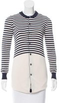 Junya Watanabe Pearl-Accented Striped Cardigan