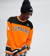 Puma Hockey Sweat In Orange Exclusive To Asos