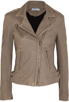 IRO Leather Biker Jacket - Mushroom