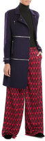 Diane von Furstenberg Wool Coat with Zippers