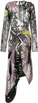 Preen by Thornton Bregazzi sequin embroidered asymmetrical dress - women - Polyamide/Silk/Sequin - XS