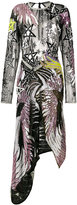 Preen by Thornton Bregazzi sequin embroidered asymmetrical dress - women - Silk/Polyamide/Sequin - XS