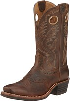 Ariat Men's Heritage Rough Stock Cowboy Boot Square Toe Brown 12D wide