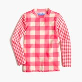 J.Crew Girls' rash guard in mixed neon gingham