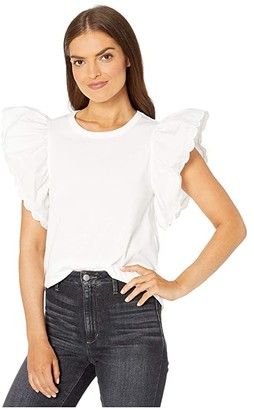 See by Chloe Embellished T-Shirt (White Powder) Women's Clothing