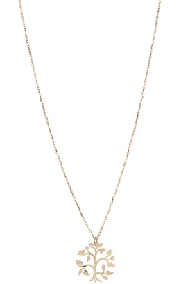 KARAT RUSH 14K Yellow Gold Flower Pendant Necklace