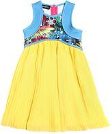 DSQUARED2 Floral Neoprene & Crepe Dress