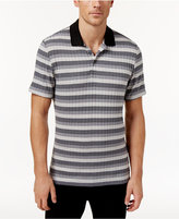 Alfani Men's Stretch Striped Polo, Only at Macy's