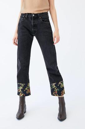 Urban Renewal Vintage Recycled Levi's Baroque Cuff Black Jean