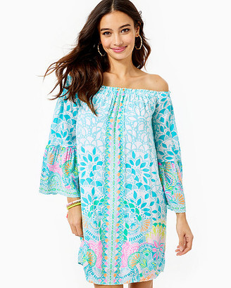 Lilly Pulitzer Nevie Off-The-Shoulder Dress