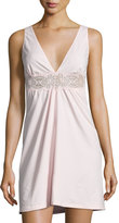 Cosabella Sonia Lace-Inset Chemise, Pink Lilly