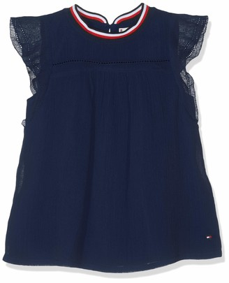 Tommy Hilfiger Girl's Sporty Solid Crepe Top S/s Vest