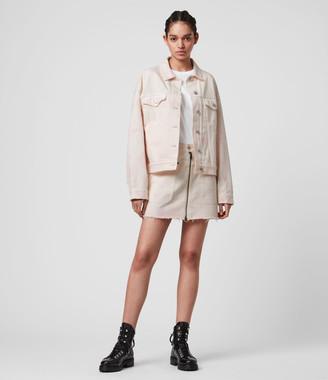 AllSaints Elma Dye Denim Skirt