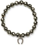 Chan Luu Diamond Horseshoe Stretch Bracelet
