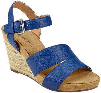 Aerosoles Ajustable Wedge Sandals - Plainfield
