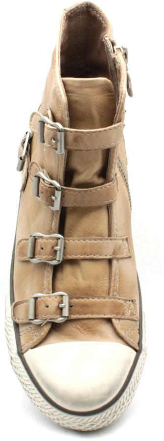 """Ash Virgin"""" Beige Leather Sneaker"""
