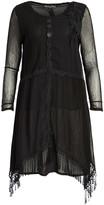 Pretty Angel Women's Tunics BLACK(BK) - Black Fringe Silk-Blend Sidetail Dress - Women