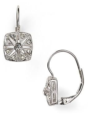 Nadri Vintage Square Leverback Earrings