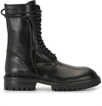 Ann Demeulemeester Lace-Up Military Boots