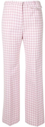Paco Rabanne Gingham Check Straight-Leg Trousers