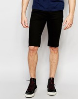 Asos Denim Short In Super Skinny Longer Length